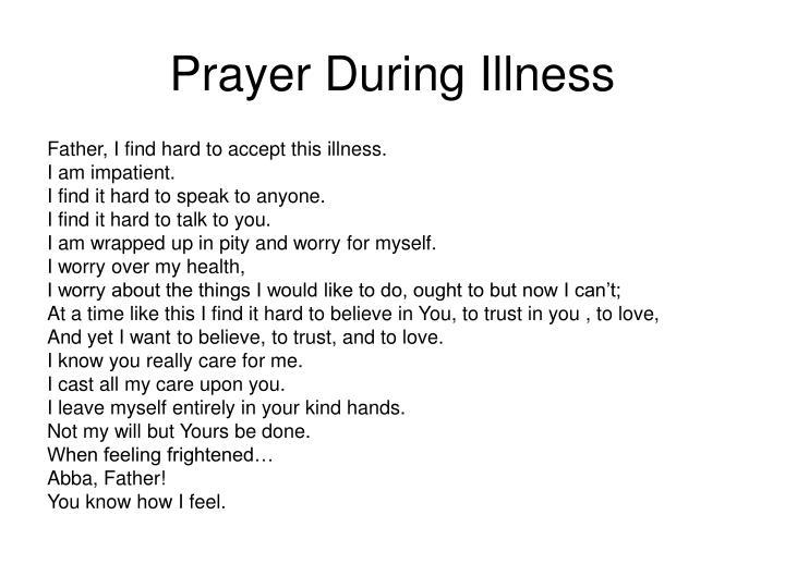 Prayer During Illness