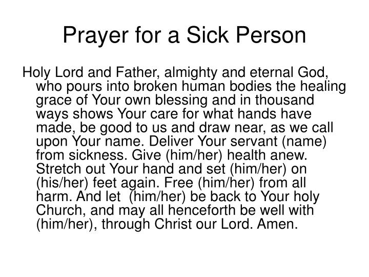 Prayer for a Sick Person