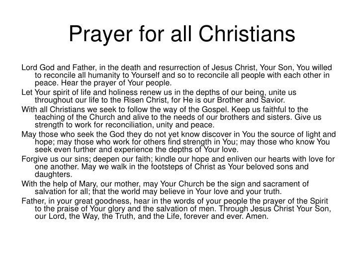 Prayer for all Christians