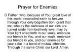 prayer for enemies