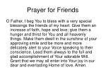 prayer for friends