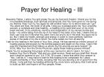 prayer for healing iii