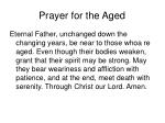 prayer for the aged