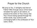 prayer for the church
