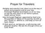 prayer for travelers
