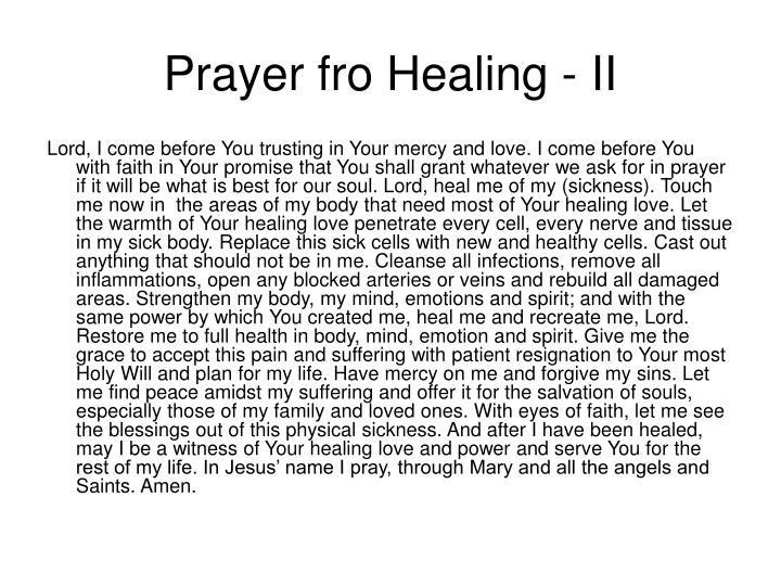 Prayer fro Healing - II