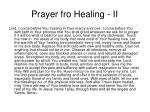 prayer fro healing ii