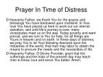 prayer in time of distress