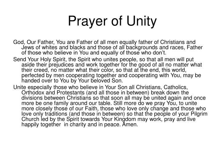 Prayer of Unity