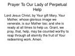 prayer to our lady of perpetual help