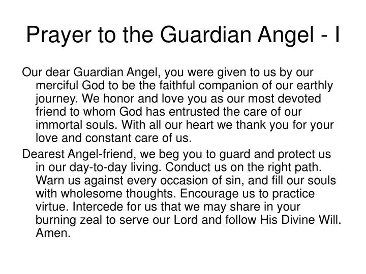 Prayer to the Guardian Angel - I