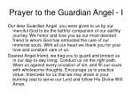 prayer to the guardian angel i