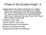 prayer to the guardian angel ii
