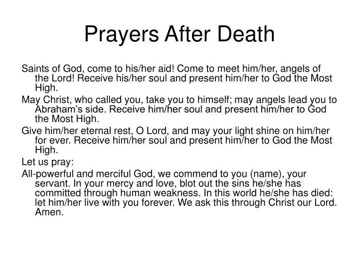 Prayers After Death