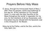 prayers before holy mass