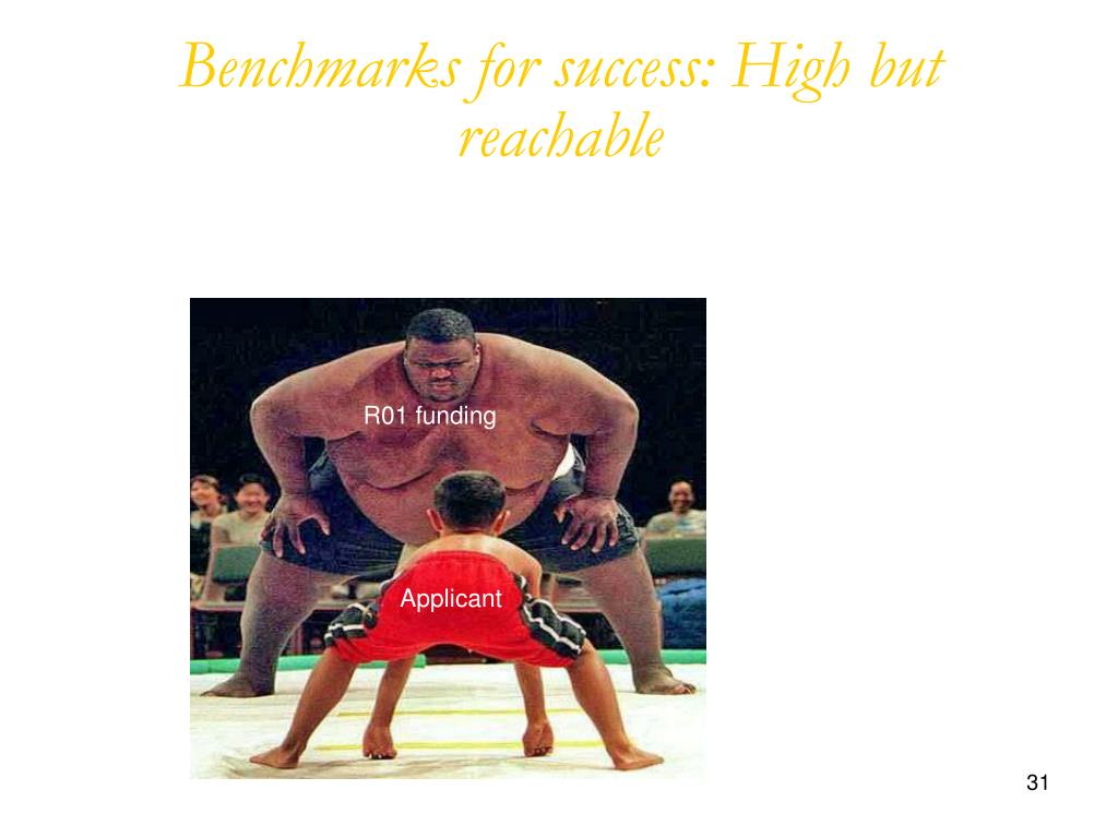 Benchmarks for success: High but reachable