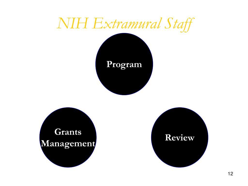 NIH Extramural Staff