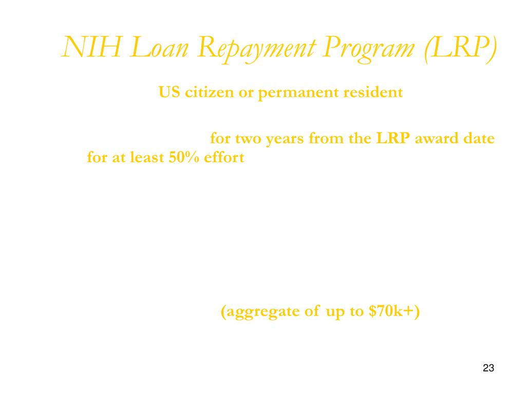 NIH Loan Repayment Program (LRP)