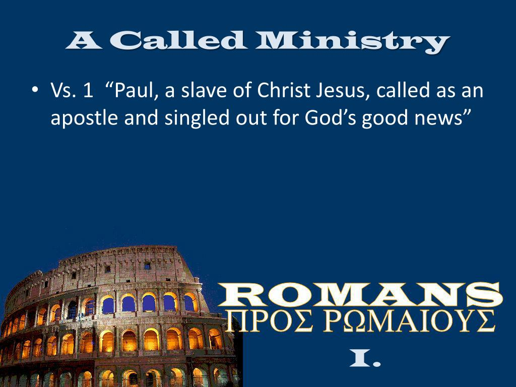 A Called Ministry