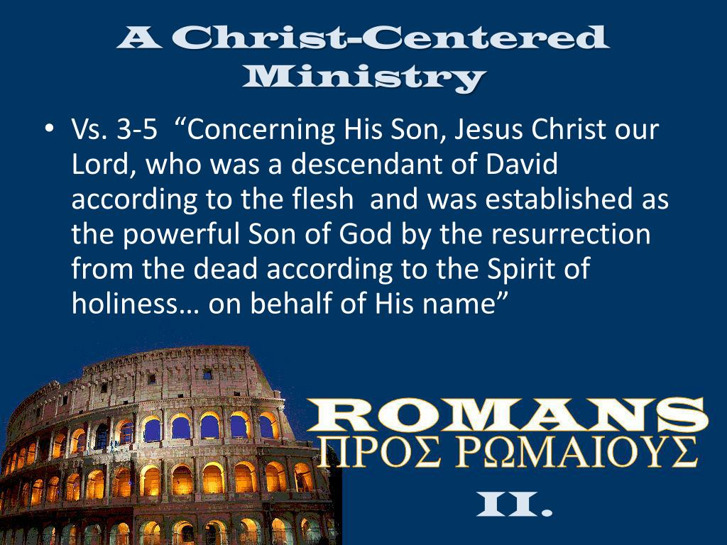 A Christ-Centered Ministry