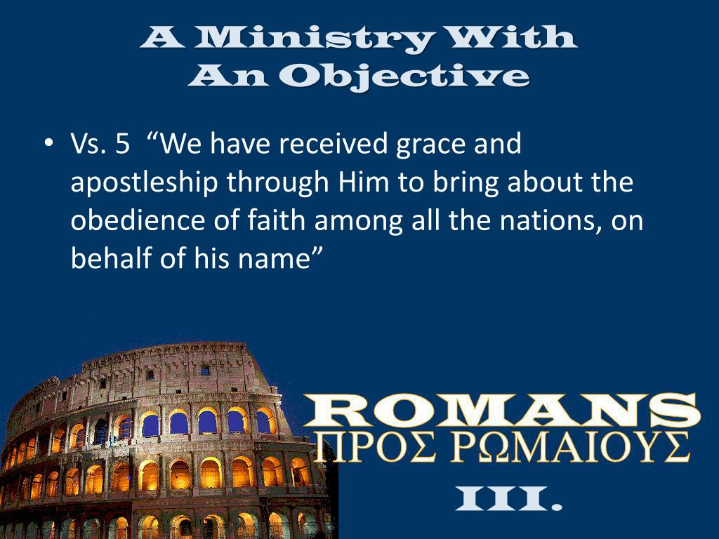 A Ministry With                       An Objective