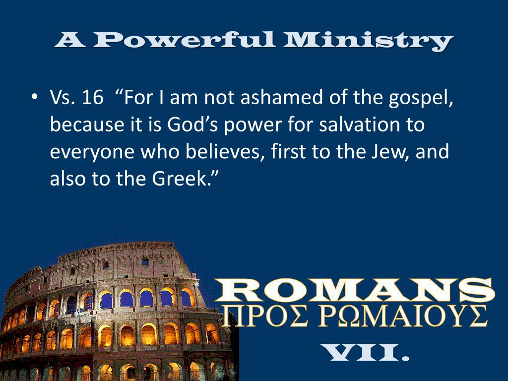 A Powerful Ministry