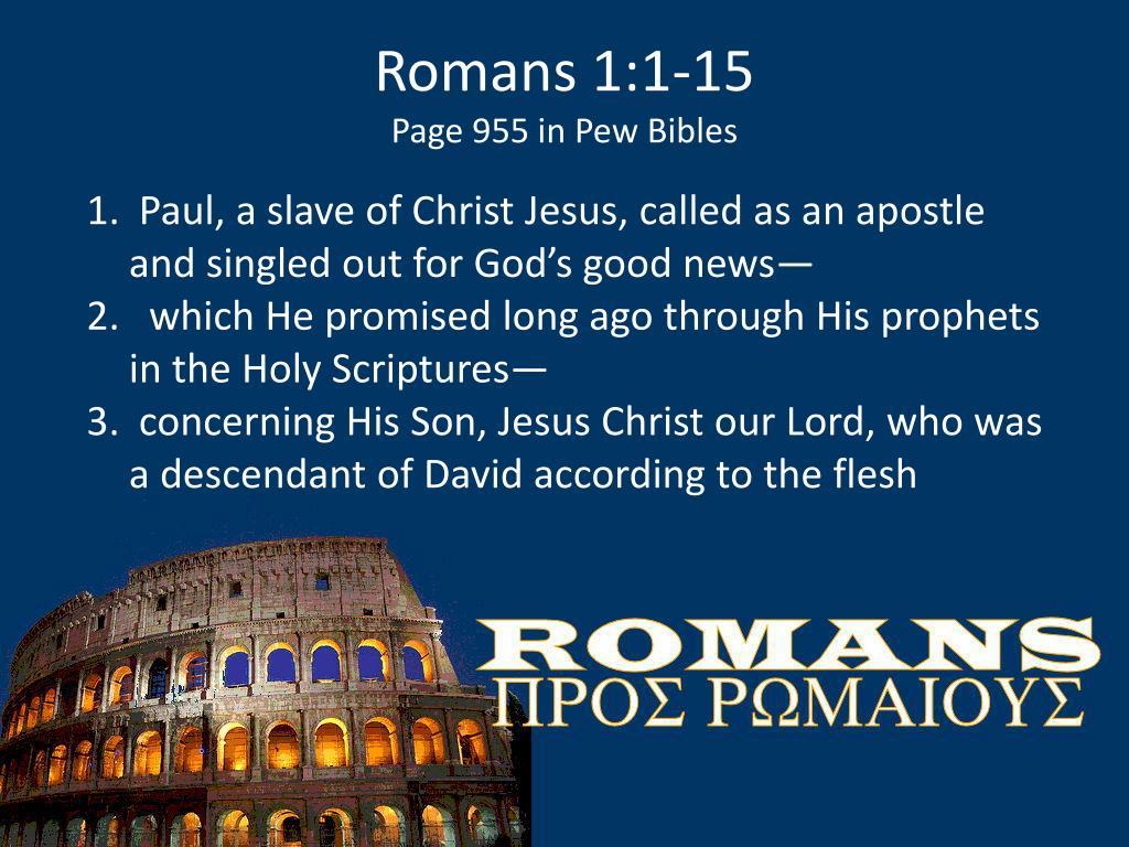 Romans 1:1-15