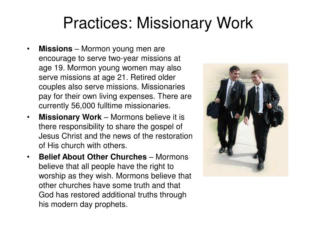 Practices: Missionary Work