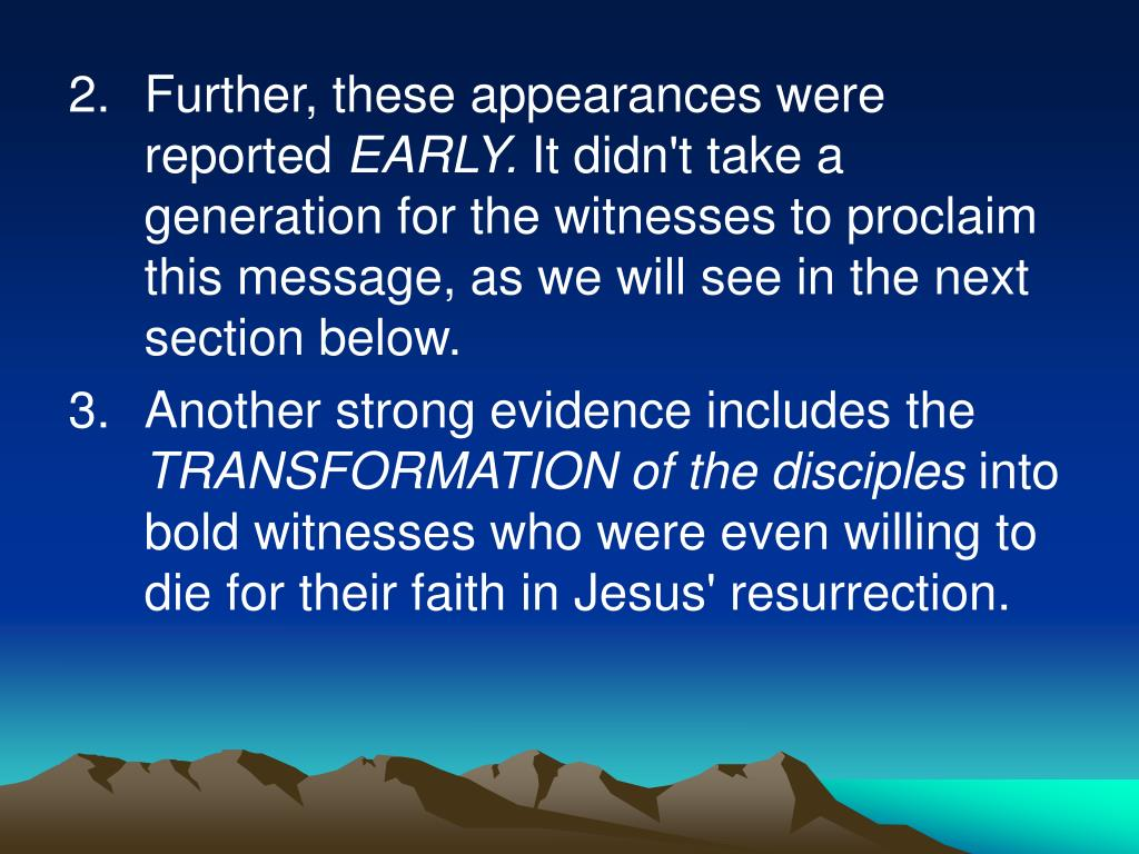 Further, these appearances were reported