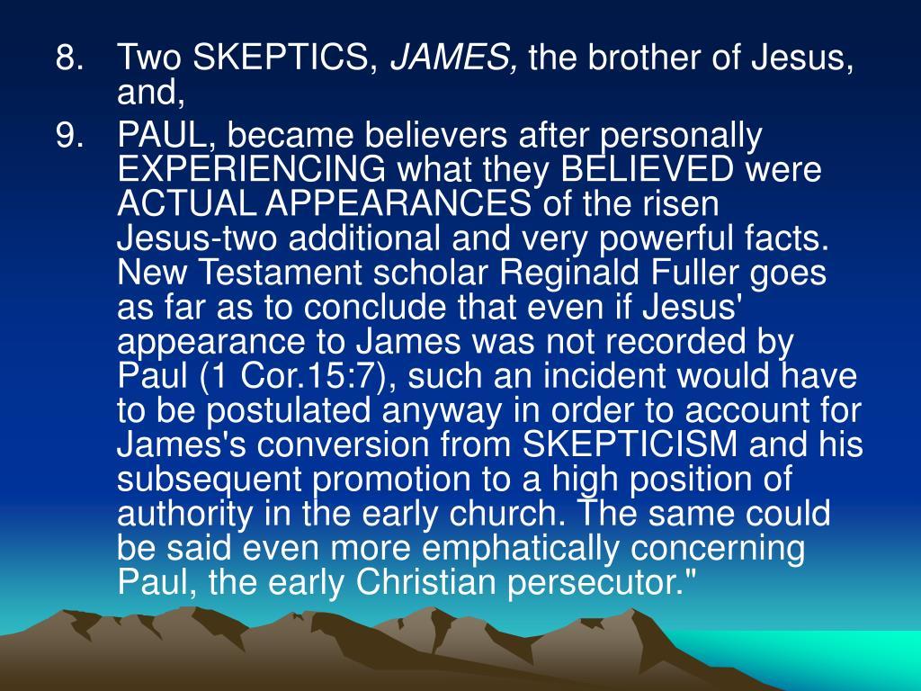 Two SKEPTICS,