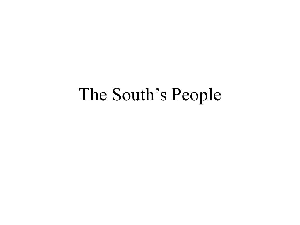 The South's People