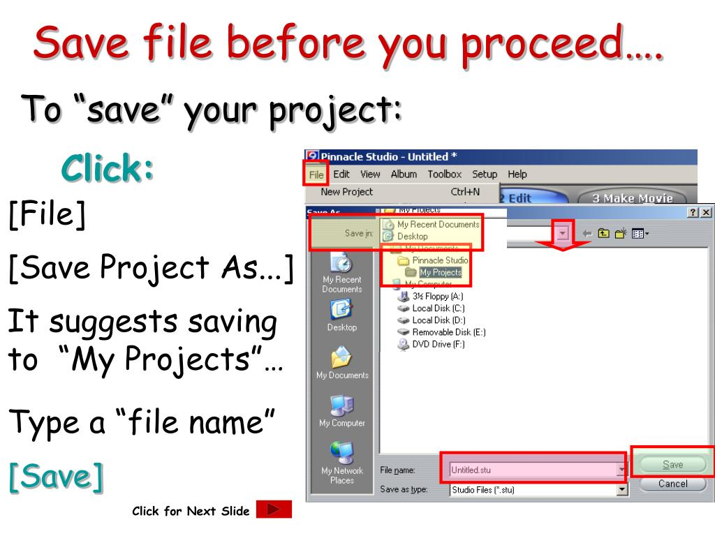Save file before you proceed….