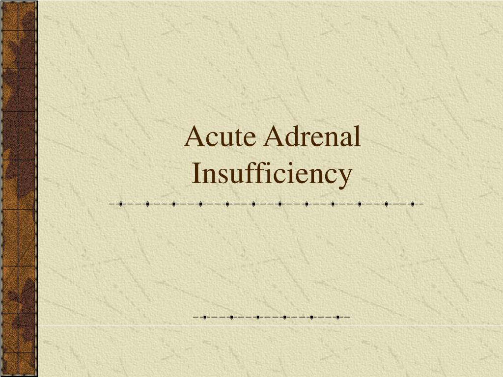 Acute Adrenal Insufficiency