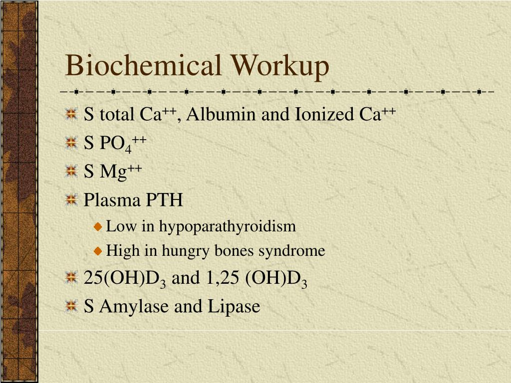 Biochemical Workup