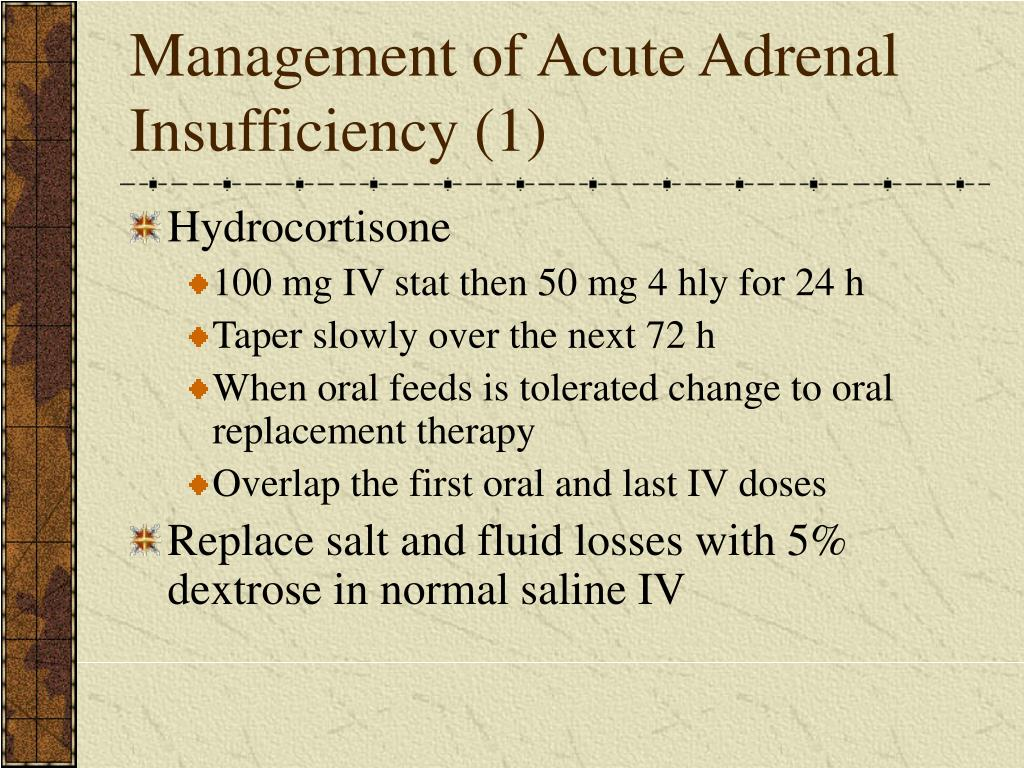 Management of Acute Adrenal Insufficiency (1)