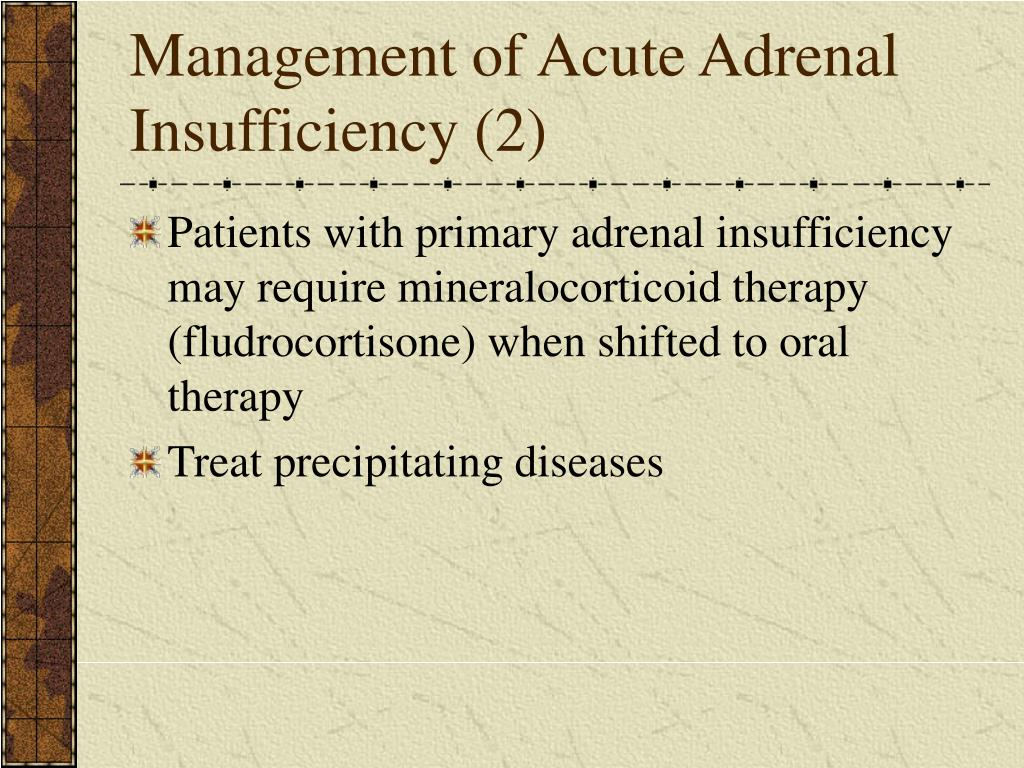 Management of Acute Adrenal Insufficiency (2)