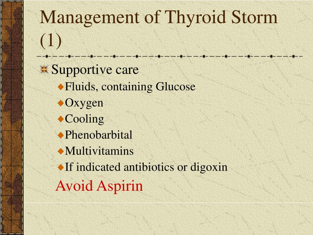 Management of Thyroid Storm (1)