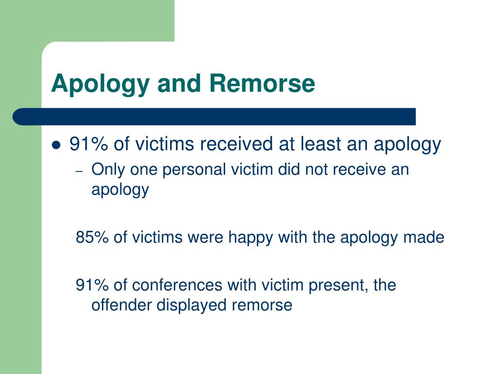 Apology and Remorse