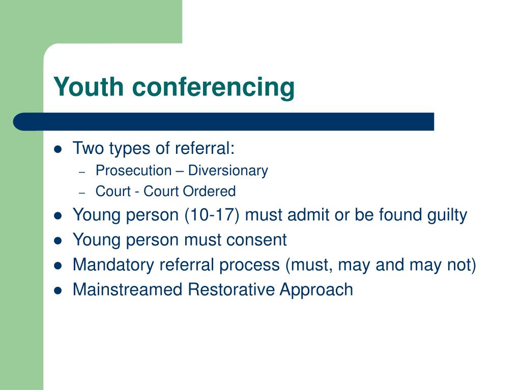 Youth conferencing