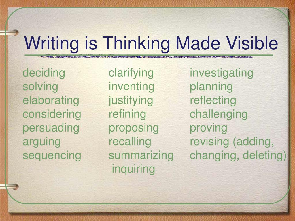 Writing is Thinking Made Visible