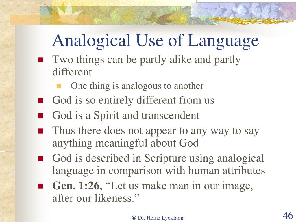 Analogical Use of Language