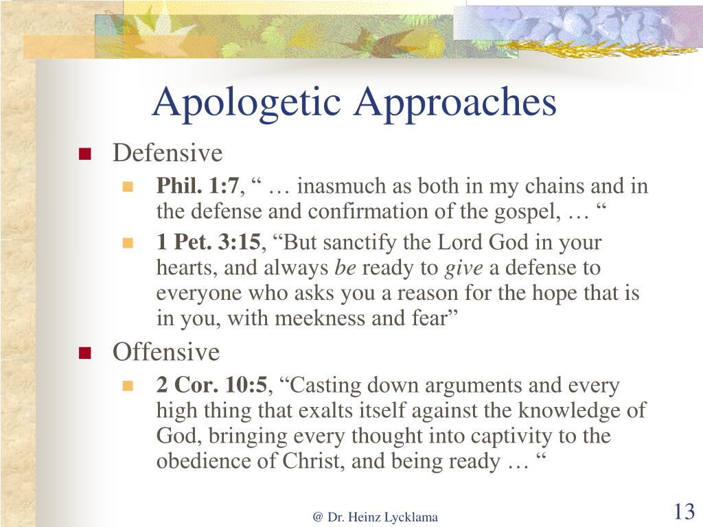 Apologetic Approaches
