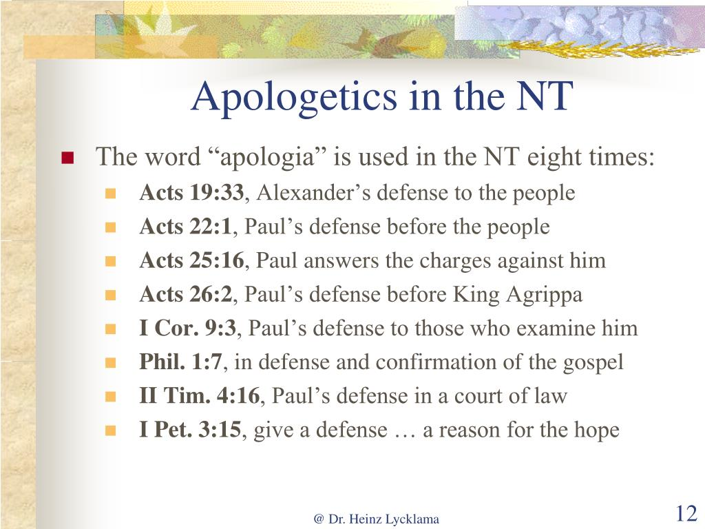 Apologetics in the NT