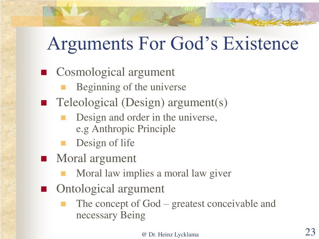 Arguments For God's Existence