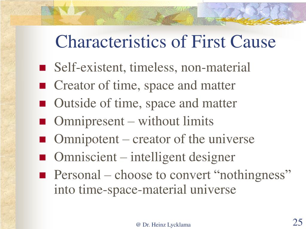 Characteristics of First Cause