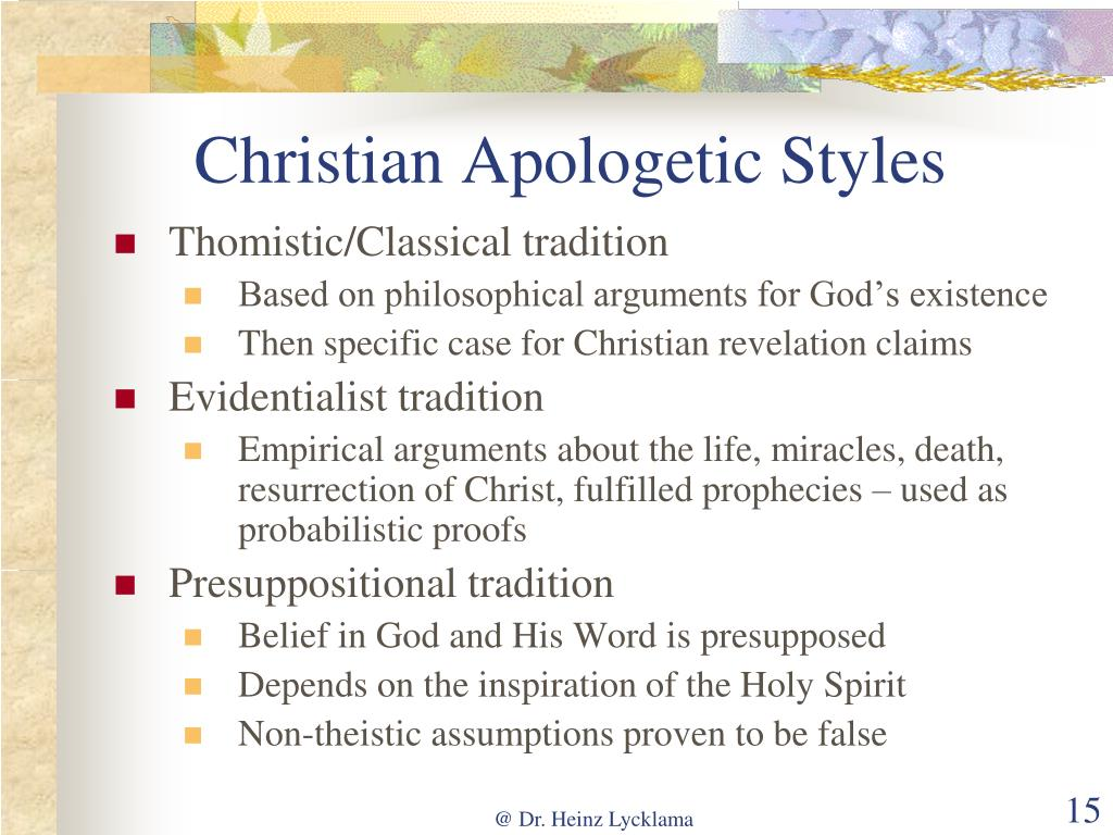 Christian Apologetic Styles