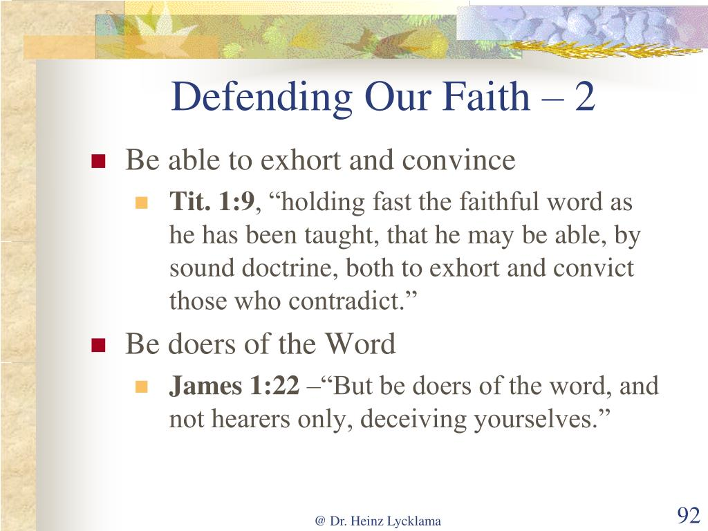 Defending Our Faith – 2