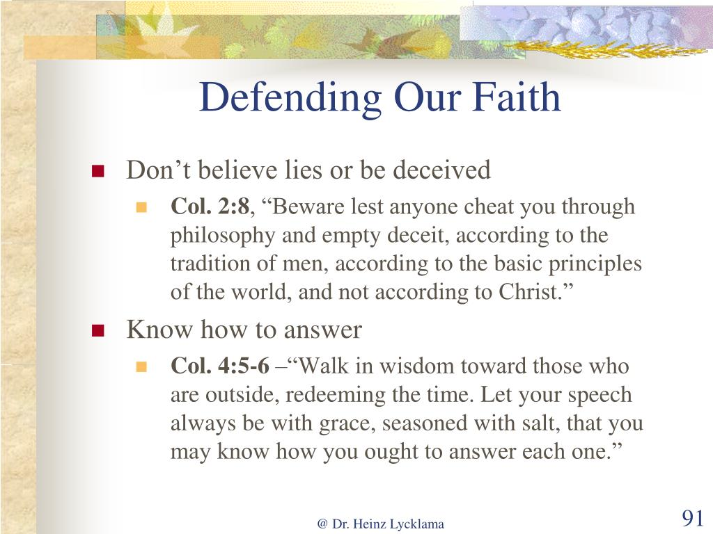 Defending Our Faith