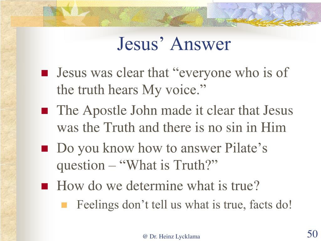 Jesus' Answer