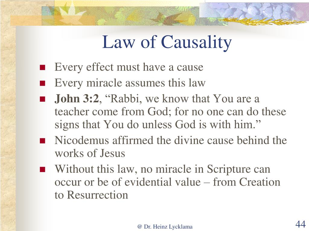 Law of Causality